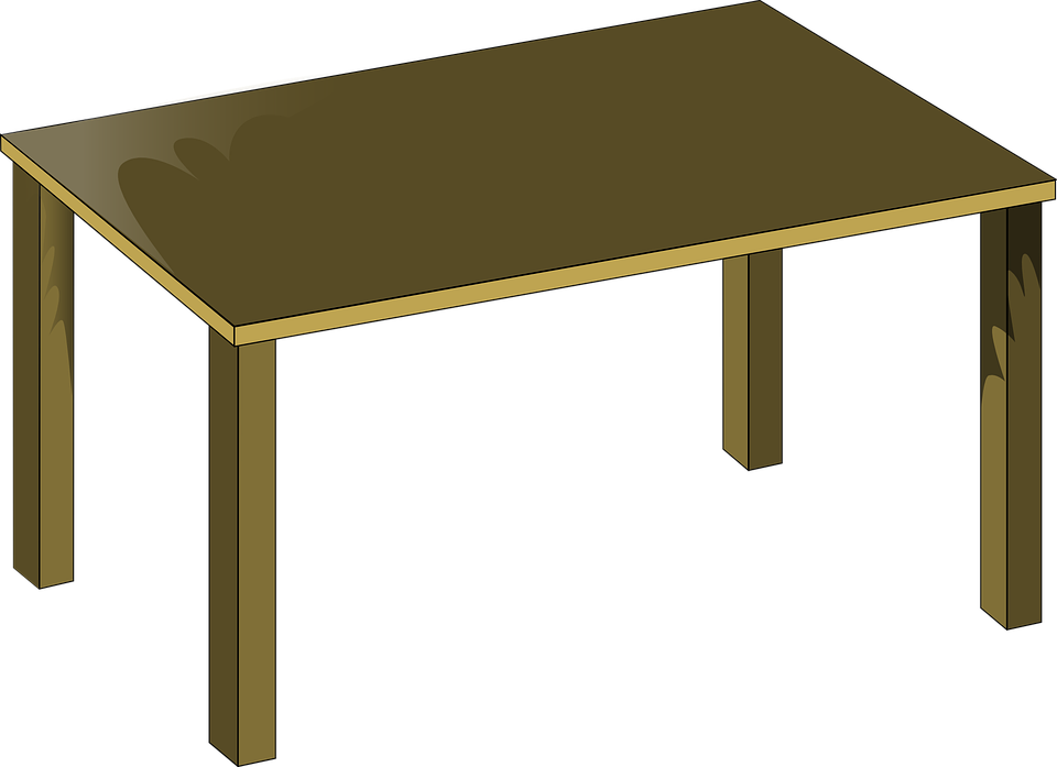 brown table clipart - Clipground