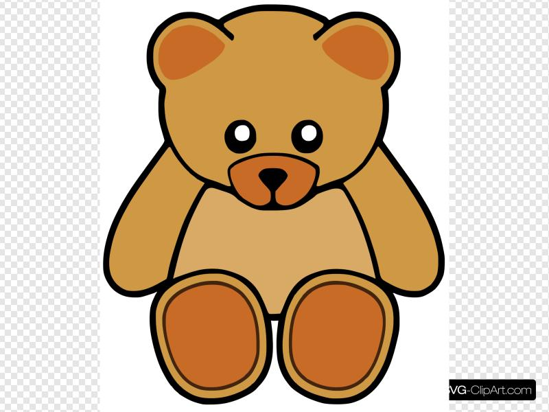 Brown Cute Teddy Bear Clip art, Icon and SVG.