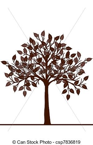 Stock Illustration of Abstract brown tree csp7836819.