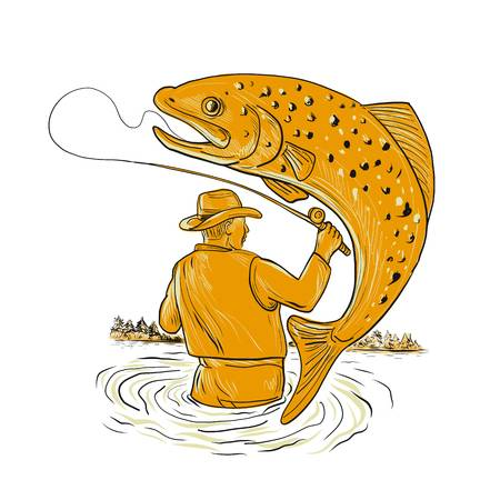 177 Brown Trout Cliparts, Stock Vector And Royalty Free Brown Trout.
