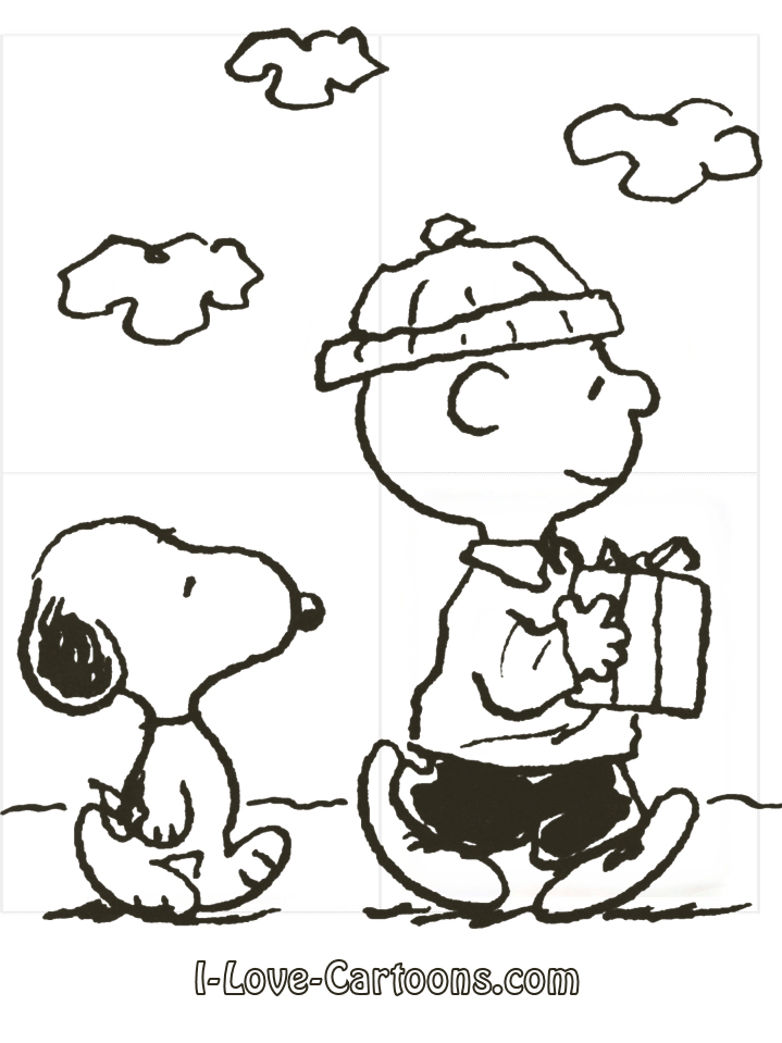 Charlie Brown Characters Black And White Clipart.