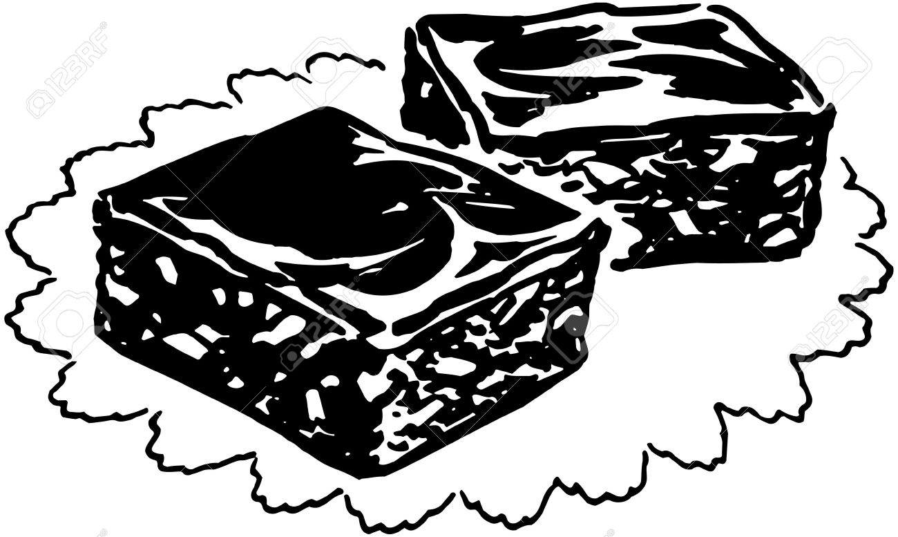 Brownies Clipart Black And White.