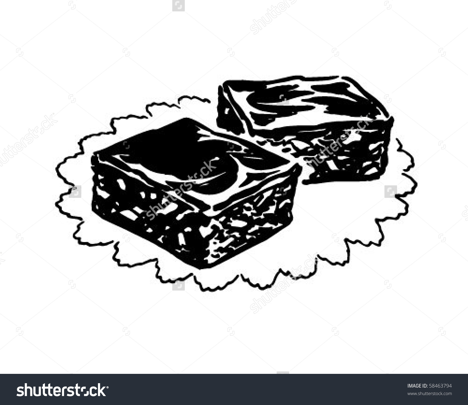 Showing post & media for Cartoon black and white brownie.