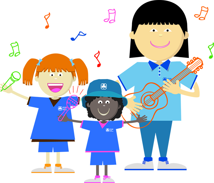 Clipart Girl Guides.