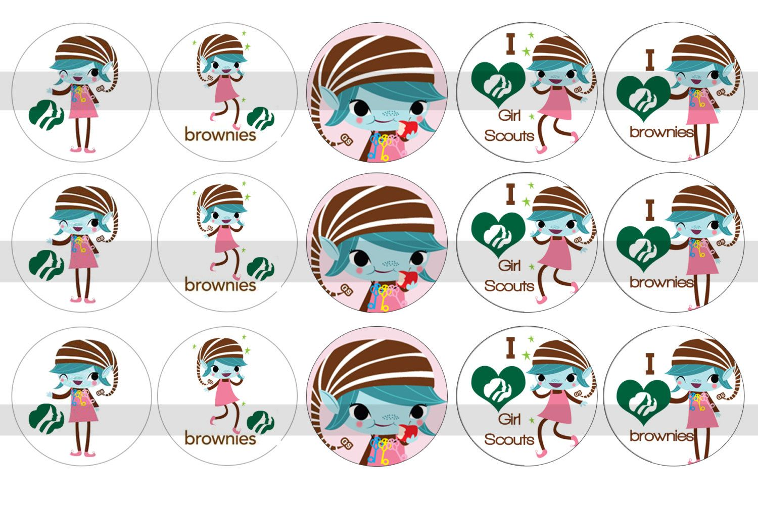 14 Awesome girl scout brownie elf clipart.