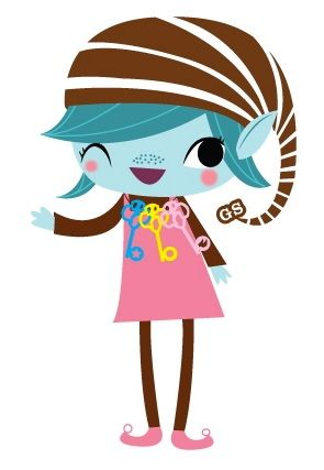 Girl Scout Brownie Elf Clipart.