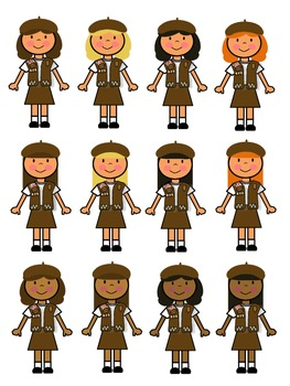 Brownie Girl Scout Clip Art.