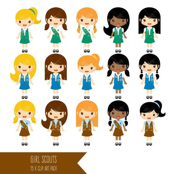Girl Scouts Clipart / Brownie Clip Art / Daisy by ClipArtisan.
