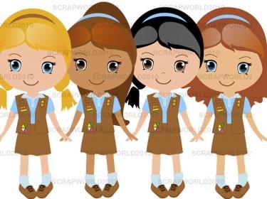Brownies clipart brownie girl scout, Brownies brownie girl.