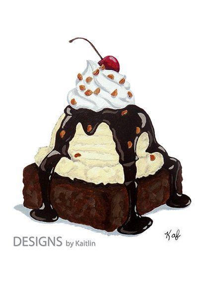 Brownies clipart brownie sundae, Brownies brownie sundae Transparent.