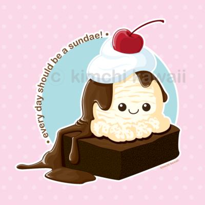 Brownie Sundae by *kimchikawaii on deviantART KAWAII.