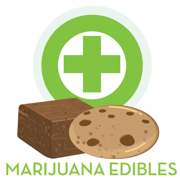 Marijuana Brownie Illustrations, Royalty.