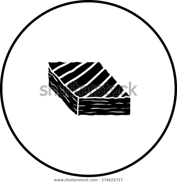 Brownie Symbol Stock Vector (Royalty Free) 274025717.