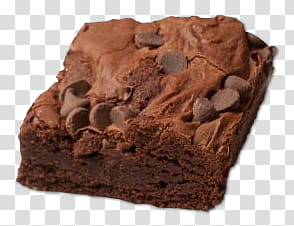 Baked brownie transparent background PNG clipart.