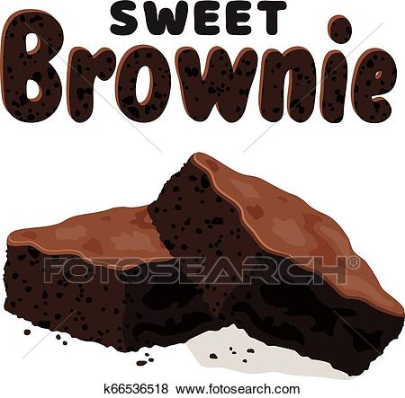 Vector chocolate brownies Clip Art.