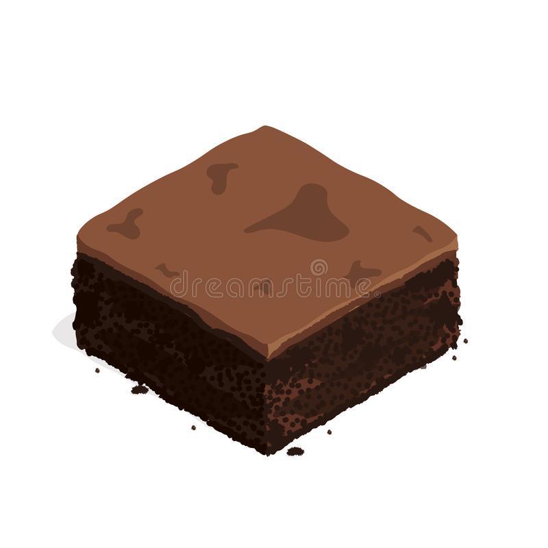 Fudge Brownie Stock Illustrations.