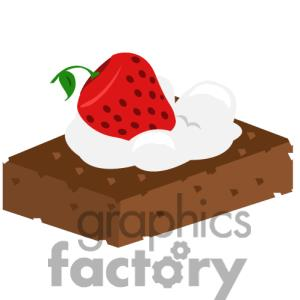 Clip Art Black And White Brownies Clipart.