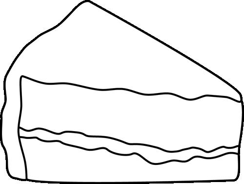 Black and White Slice of Cake.