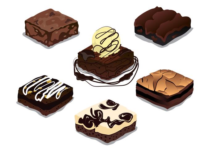 Brownie Free Vector Art.