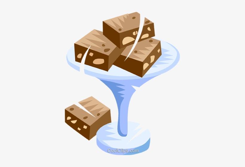Fudge Brownies Royalty Free Vector Clip Art Illustration.