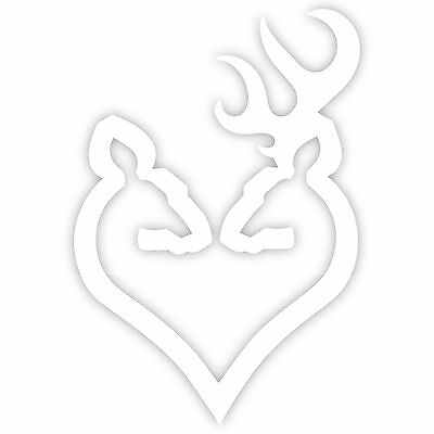 BROWNING ARMS DEER Heart Logo 12\