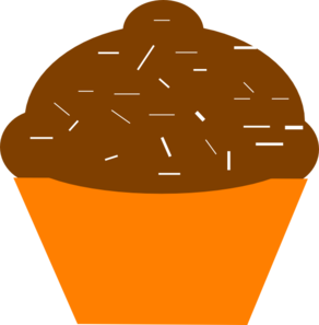 Cupcake Brown Orange Clip Art at Clker.com.