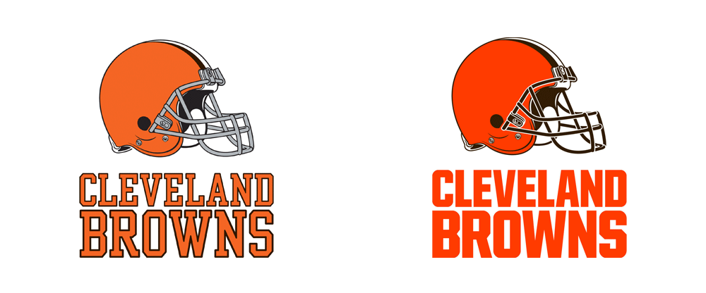 Brand New: New Logos for the Cleveland Browns.