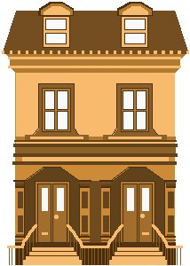 Free brownstone Clipart.