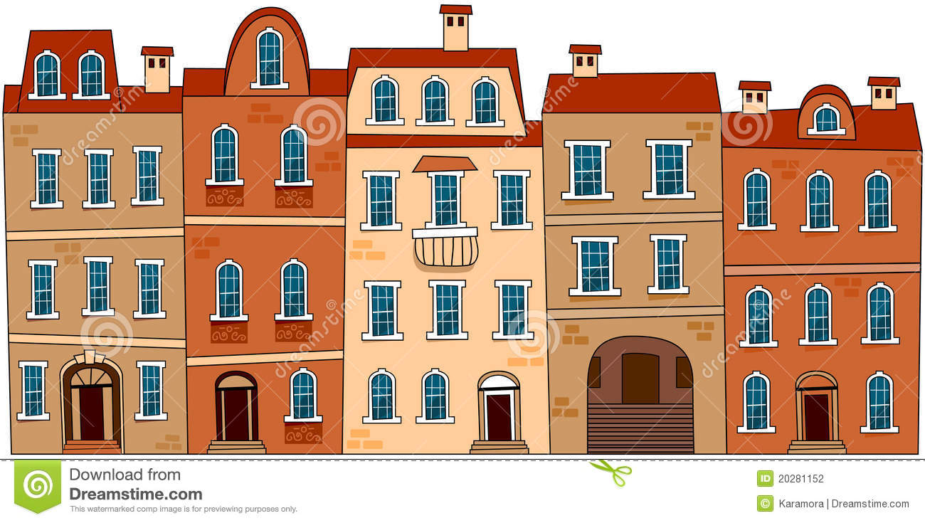 Brownstone Stock Illustrations.