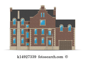 Brownstone Clipart Vector Graphics. 10 brownstone EPS clip art.