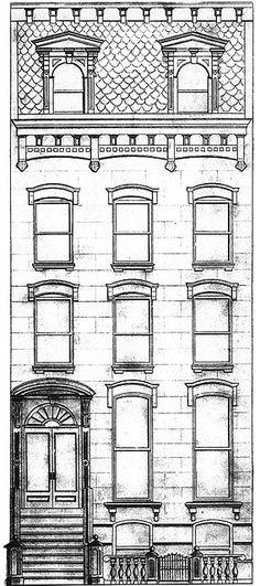 coloriage façades et rues.