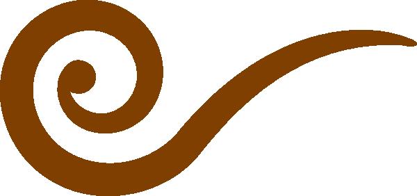 Brown Swirl Clip Art at Clker.com.
