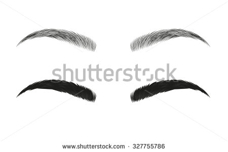Boy eyebrows clipart.
