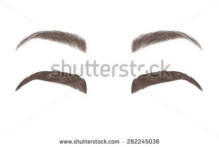 Cartoon eyebrows clipart.