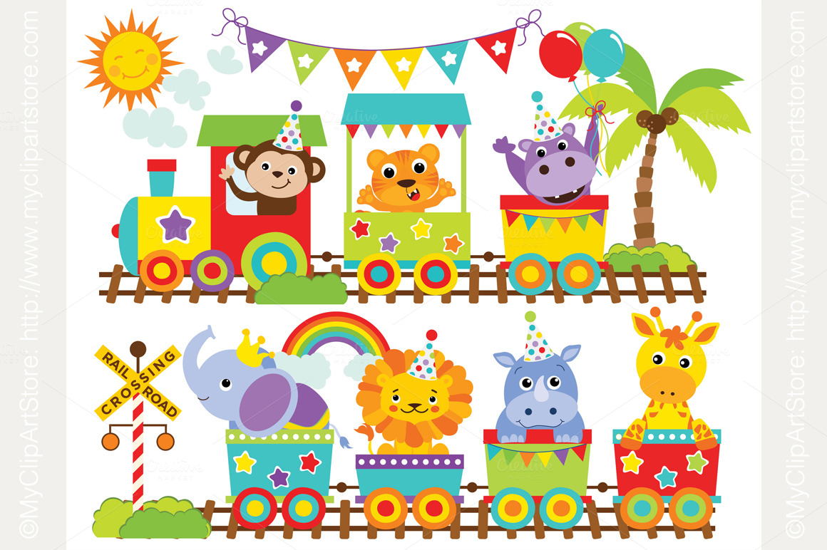Circus Train Clipart.