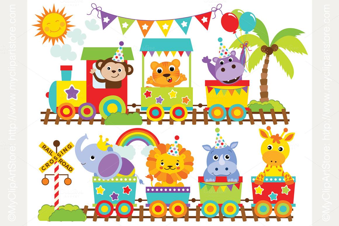 Circus Train Clipart.