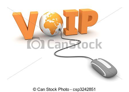 Clipart of Browse the Voice over IP.
