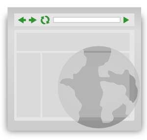Web browser clipart.