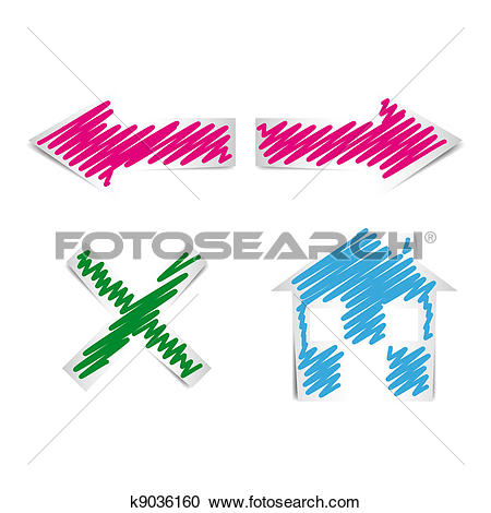 Clipart of Internet Browser Navigation Icons k9036160.
