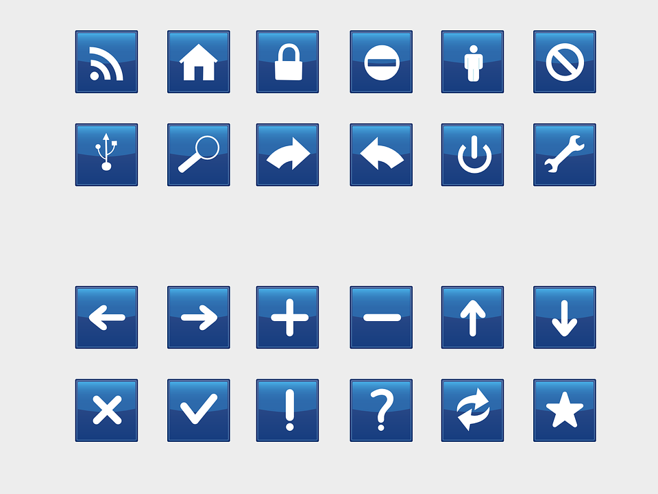 Free vector graphic: Browser, Buttons, Blue, Navigation.