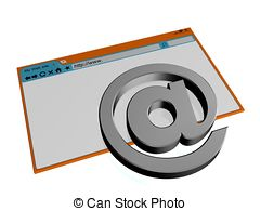 Clipart of Blank Browser Window.