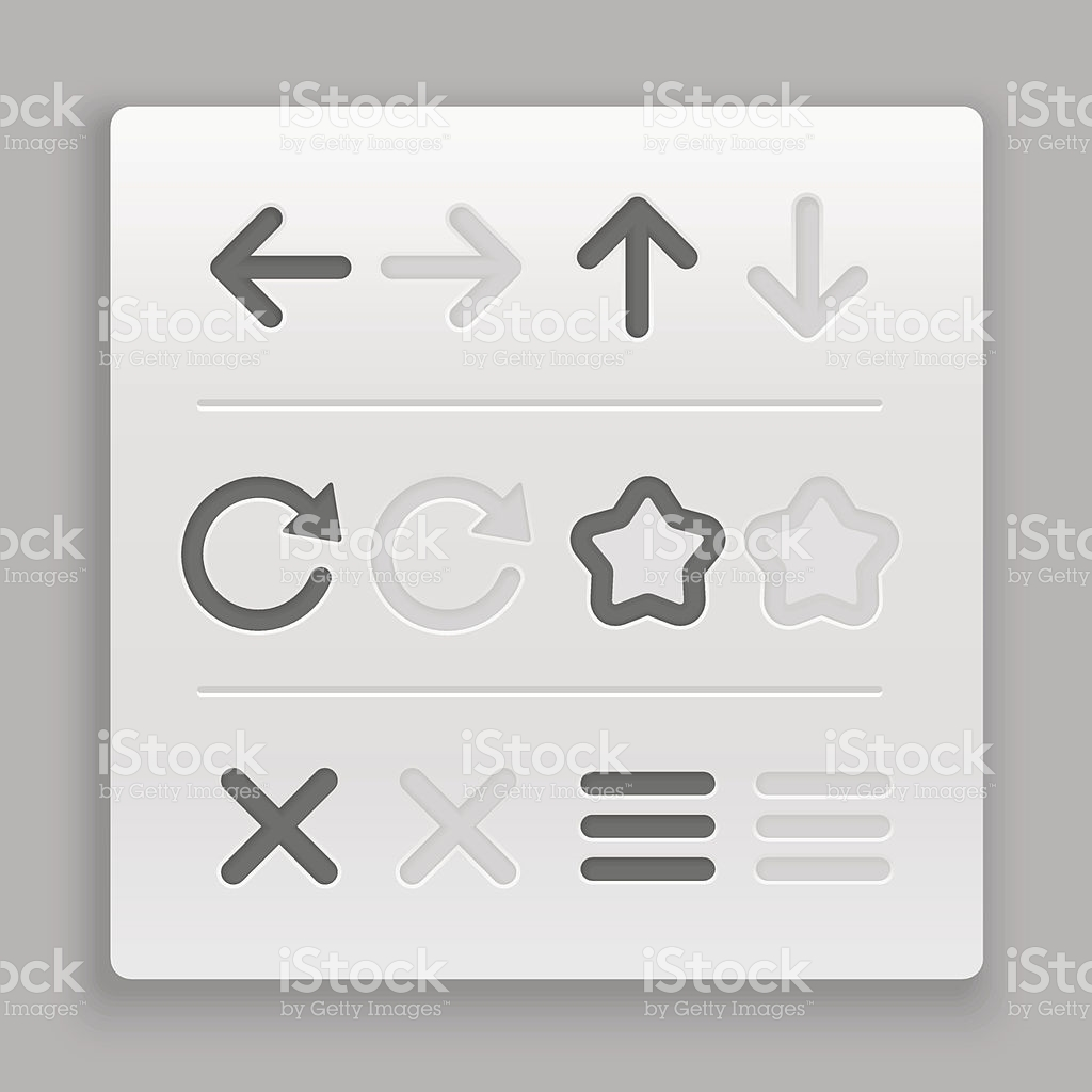Web Navigation Buttons Clipart stock vector art 478977541.