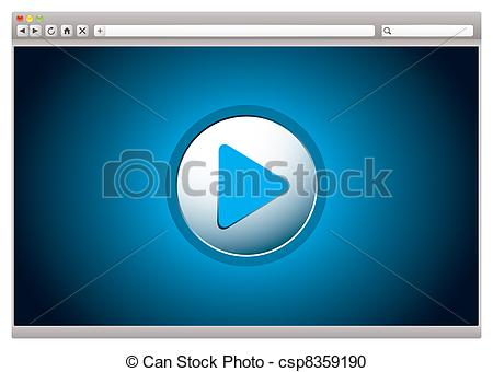 Vector Clipart of Internet video browser.