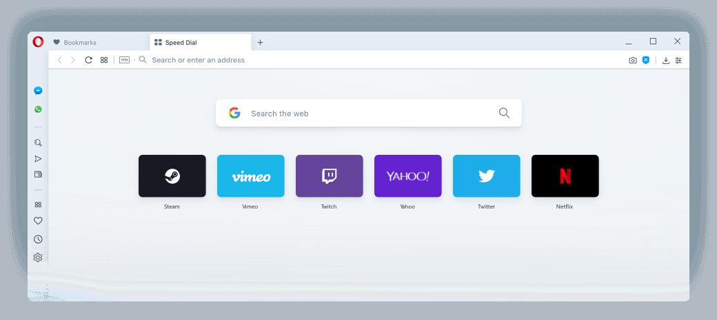 Opera Browser.