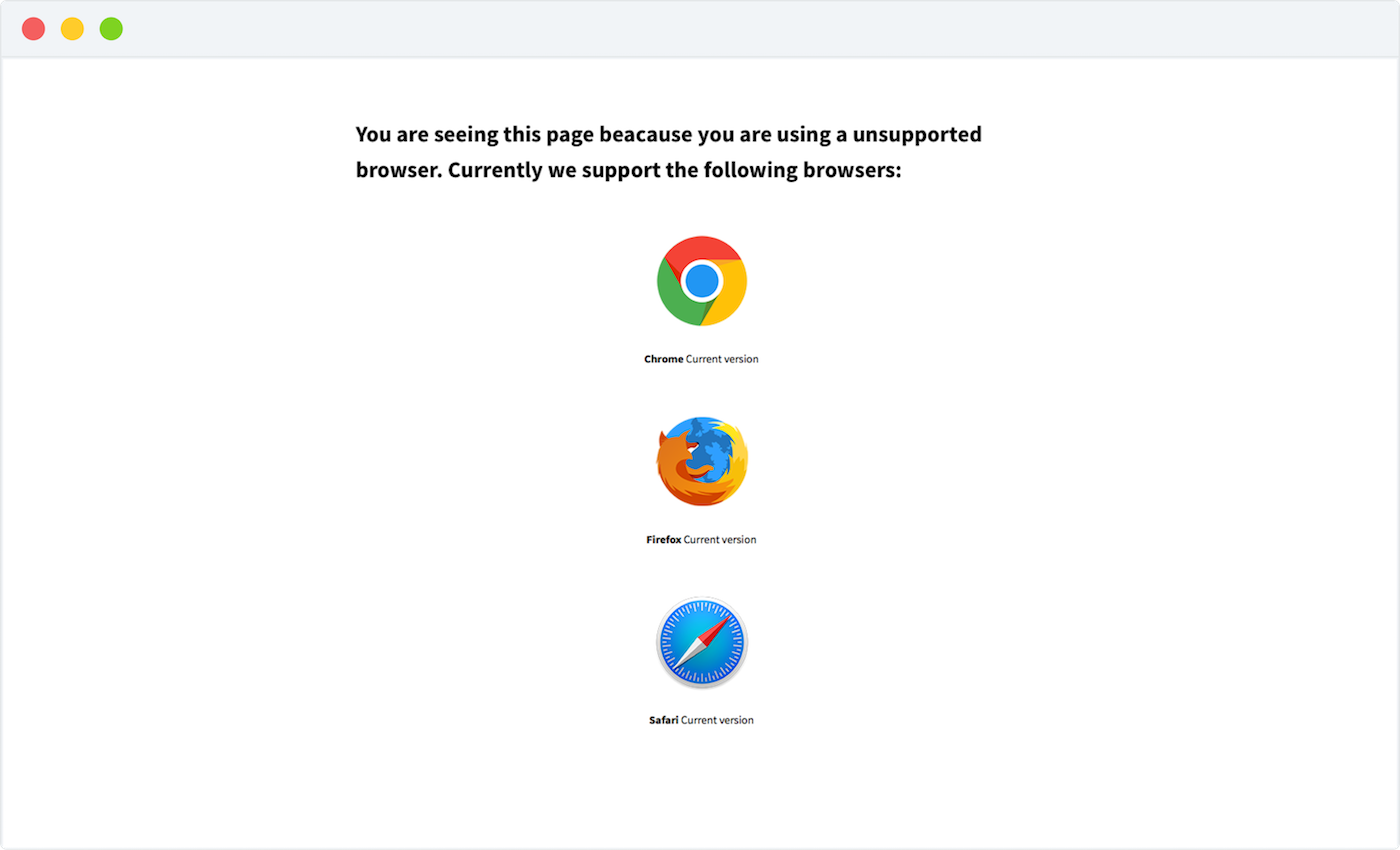 Browsers Supported.
