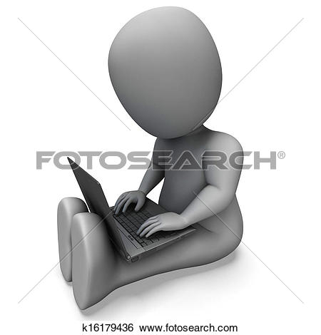 Stock Illustration of Pc Computer Showing Browsing Web Online.