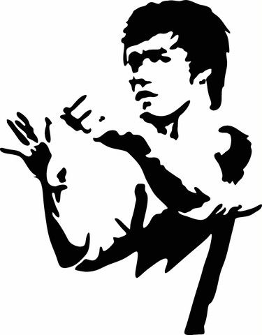 Hd clipart of bruce lee.