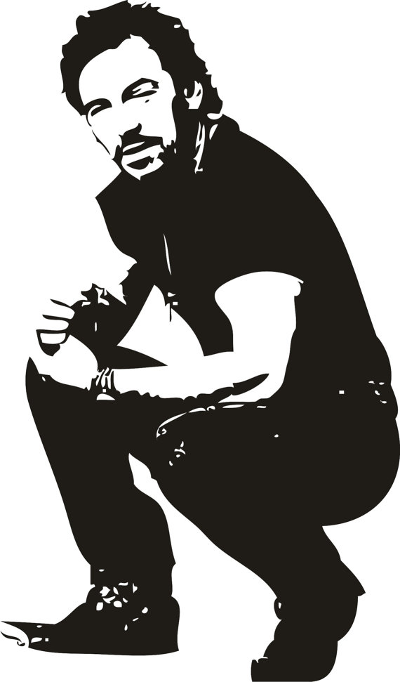Bruce springsteen clipart.
