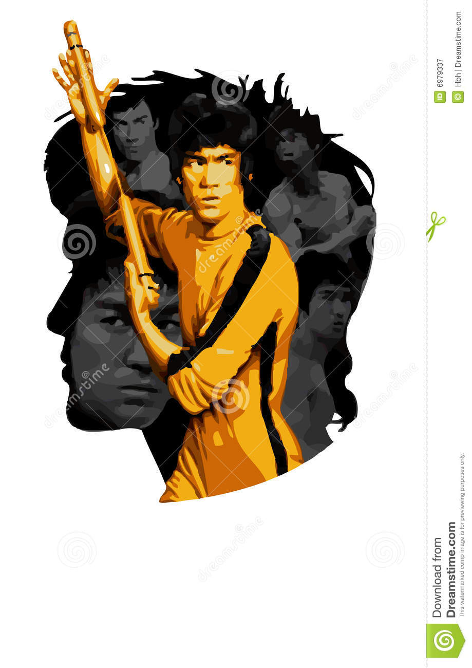 KungFu Bruce Lee Editorial Photography.