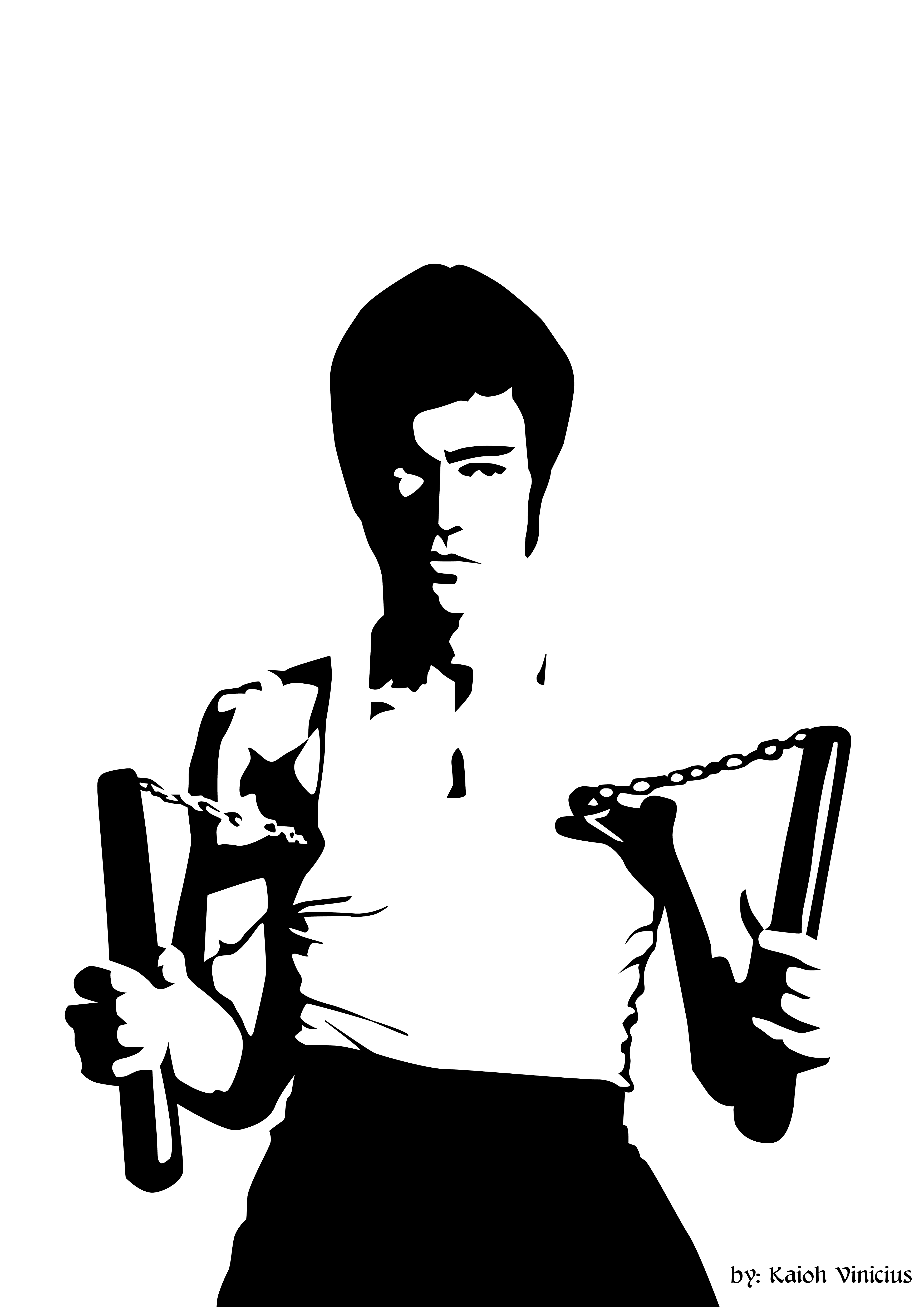 Free Bruce Lee Clipart silhouette, Download Free Clip Art on Owips.com.